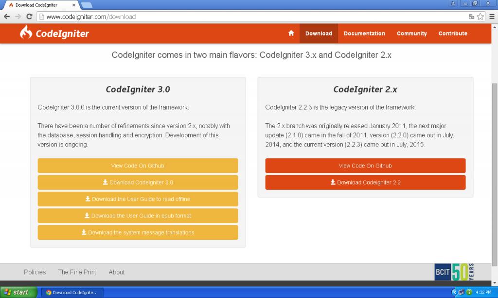 Installation Codeigniter